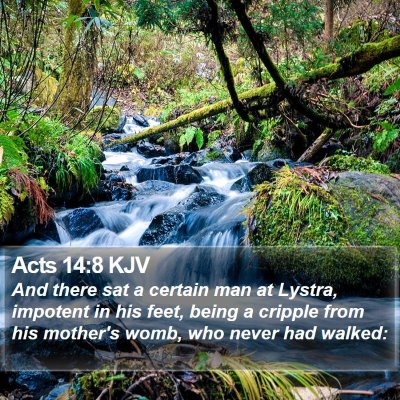 Acts 14:8 KJV Bible Verse Image