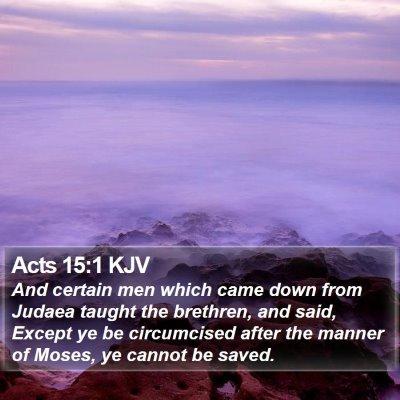 Acts 15:1 KJV Bible Verse Image