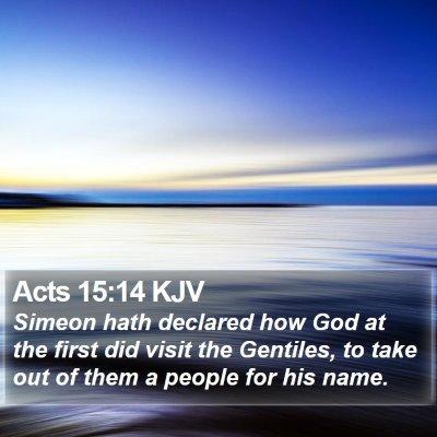 Acts 15:14 KJV Bible Verse Image