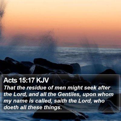 Acts 15:17 KJV Bible Verse Image