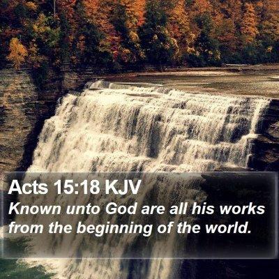 Acts 15:18 KJV Bible Verse Image