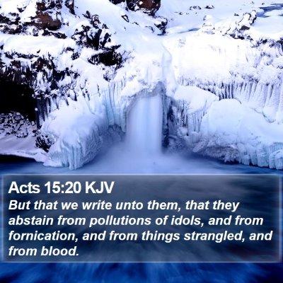 Acts 15:20 KJV Bible Verse Image