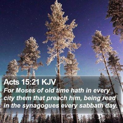 Acts 15:21 KJV Bible Verse Image