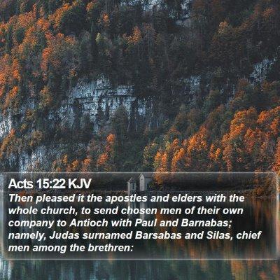 Acts 15:22 KJV Bible Verse Image
