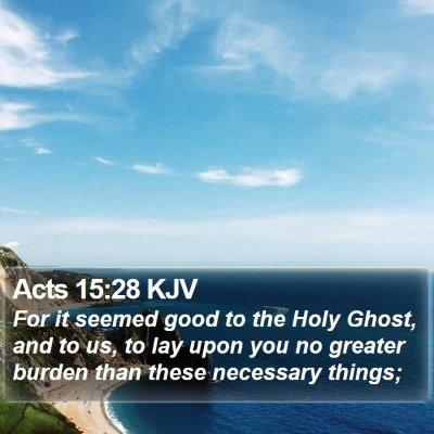 Acts 15:28 KJV Bible Verse Image