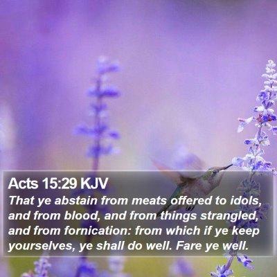 Acts 15:29 KJV Bible Verse Image