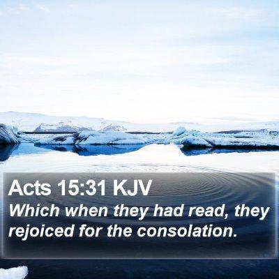 Acts 15:31 KJV Bible Verse Image