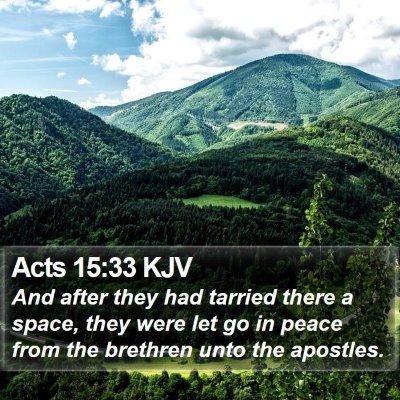 Acts 15:33 KJV Bible Verse Image