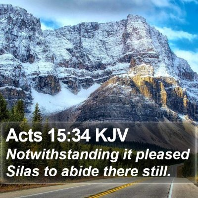 Acts 15:34 KJV Bible Verse Image
