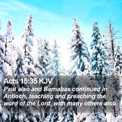 Acts 15:35 KJV Bible Verse Image
