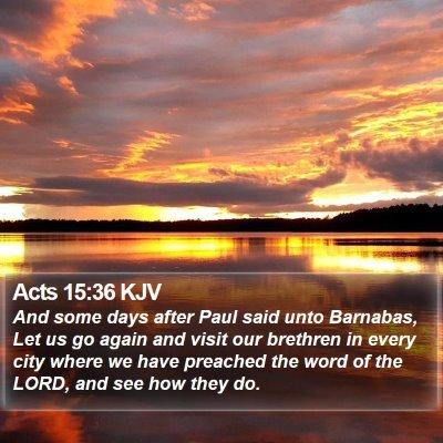 Acts 15:36 KJV Bible Verse Image