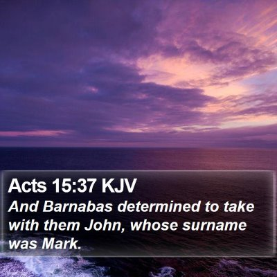 Acts 15:37 KJV Bible Verse Image