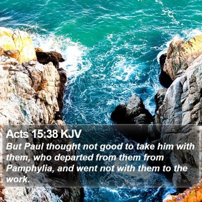 Acts 15:38 KJV Bible Verse Image