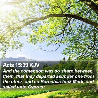 Acts 15:39 KJV Bible Verse Image