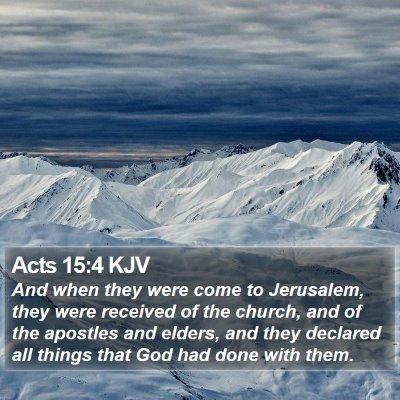 Acts 15:4 KJV Bible Verse Image