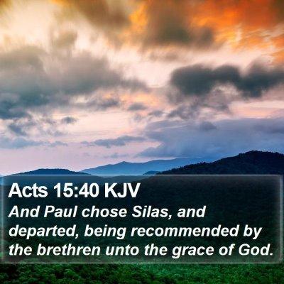 Acts 15:40 KJV Bible Verse Image