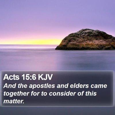 Acts 15:6 KJV Bible Verse Image