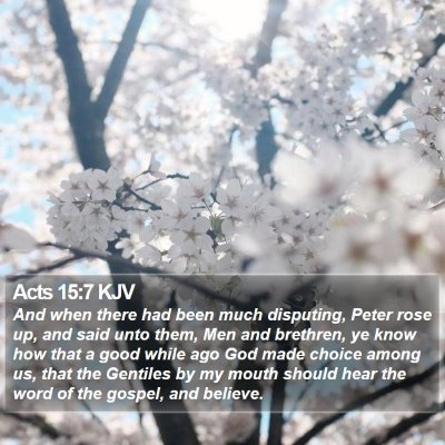 Acts 15:7 KJV Bible Verse Image