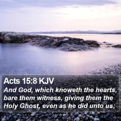 Acts 15:8 KJV Bible Verse Image