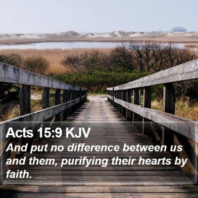 Acts 15:9 KJV Bible Verse Image