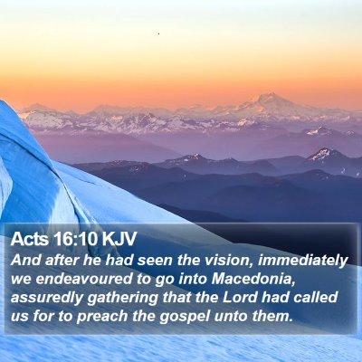 Acts 16:10 KJV Bible Verse Image