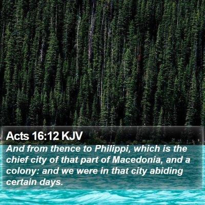 Acts 16:12 KJV Bible Verse Image