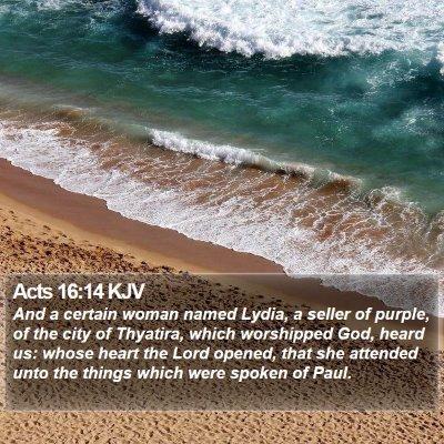 Acts 16:14 KJV Bible Verse Image