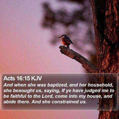 Acts 16:15 KJV Bible Verse Image