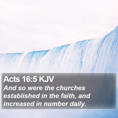 Acts 16:5 KJV Bible Verse Image
