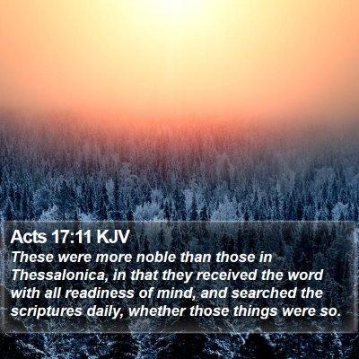 Acts 17:11 KJV Bible Verse Image