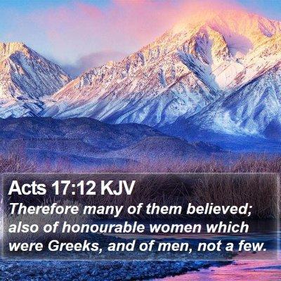 Acts 17:12 KJV Bible Verse Image
