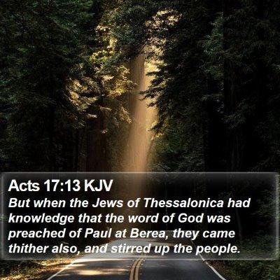 Acts 17:13 KJV Bible Verse Image
