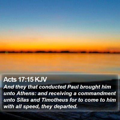 Acts 17:15 KJV Bible Verse Image