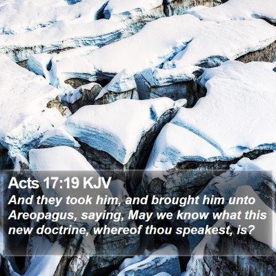 Acts 17:19 KJV Bible Verse Image