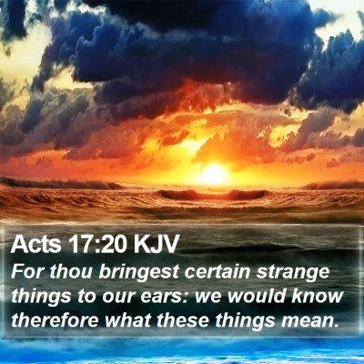 Acts 17:20 KJV Bible Verse Image