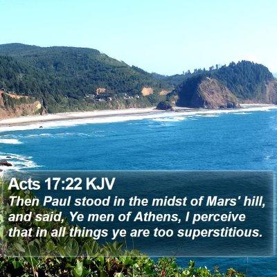 Acts 17:22 KJV Bible Verse Image