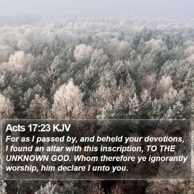 Acts 17:23 KJV Bible Verse Image
