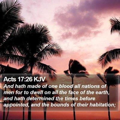 Acts 17:26 KJV Bible Verse Image