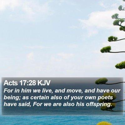 Acts 17:28 KJV Bible Verse Image