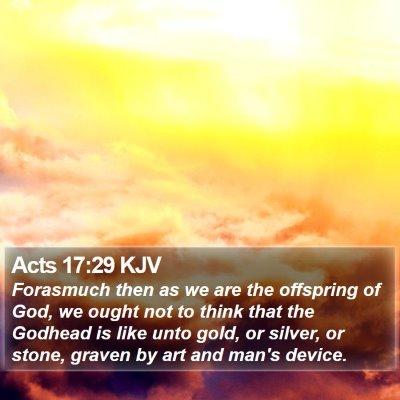 Acts 17:29 KJV Bible Verse Image