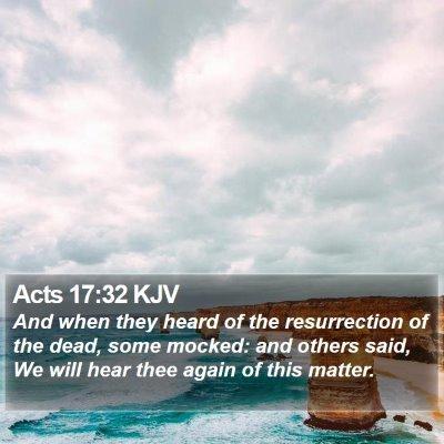 Acts 17:32 KJV Bible Verse Image