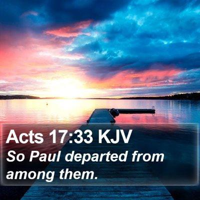 Acts 17:33 KJV Bible Verse Image