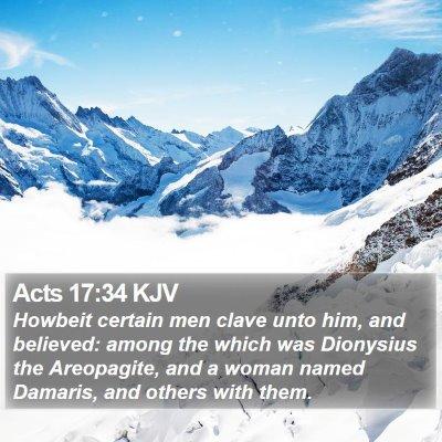 Acts 17:34 KJV Bible Verse Image