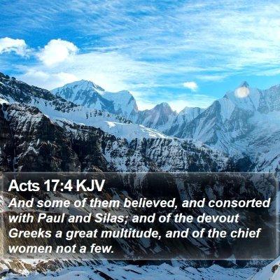 Acts 17:4 KJV Bible Verse Image