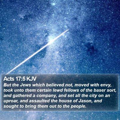 Acts 17:5 KJV Bible Verse Image