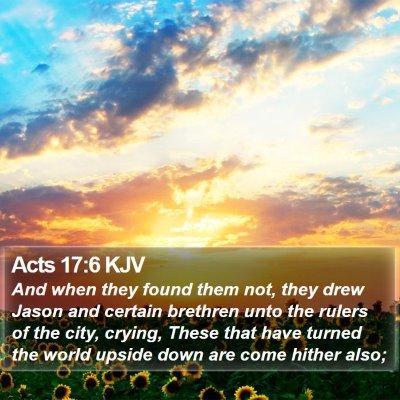 Acts 17:6 KJV Bible Verse Image