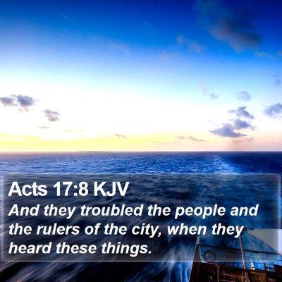 Acts 17:8 KJV Bible Verse Image