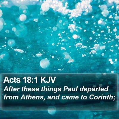 Acts 18:1 KJV Bible Verse Image