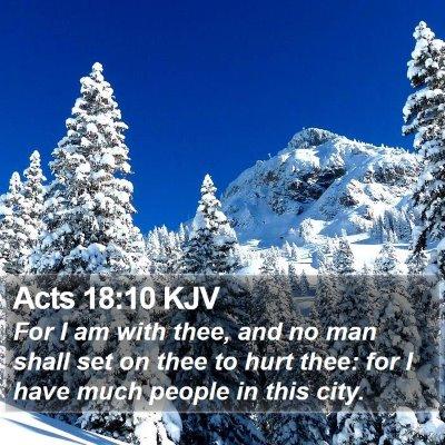 Acts 18:10 KJV Bible Verse Image