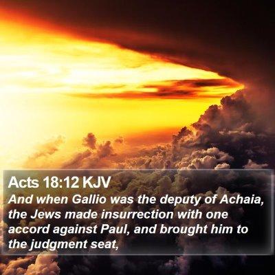 Acts 18:12 KJV Bible Verse Image